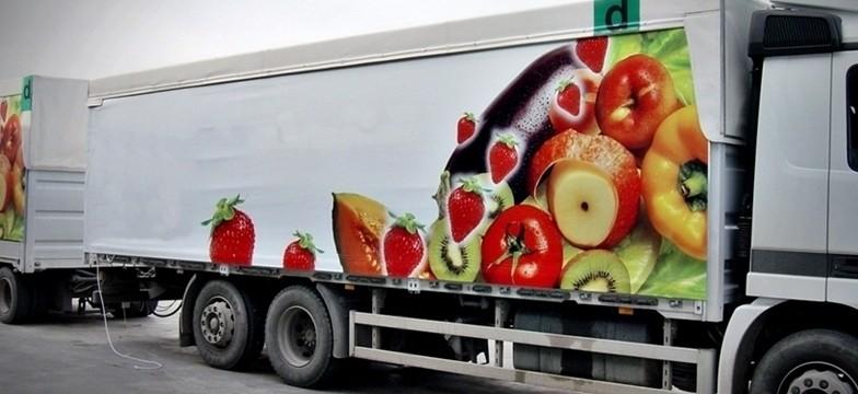 Telone per camion con fianchi stampati in quadricromia