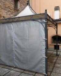 Chiusura laterale in rete capannina